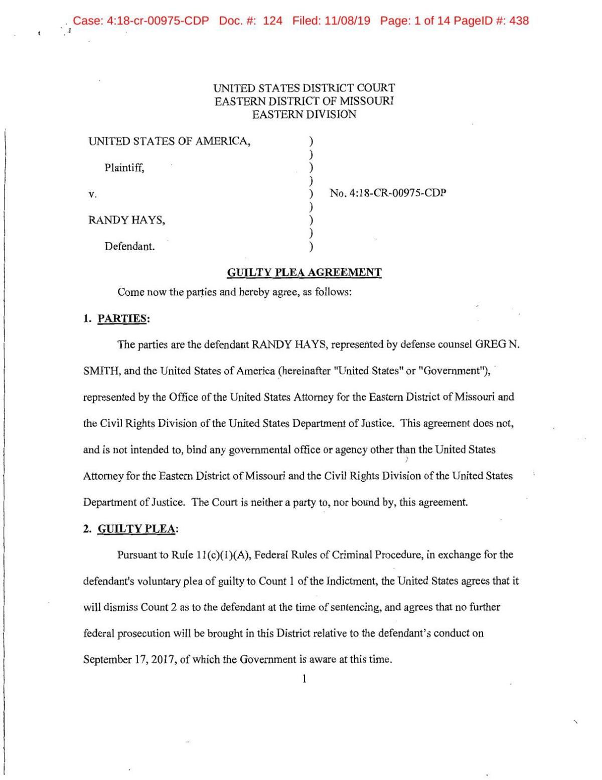 Randy Hays Plea (FILED).pdf