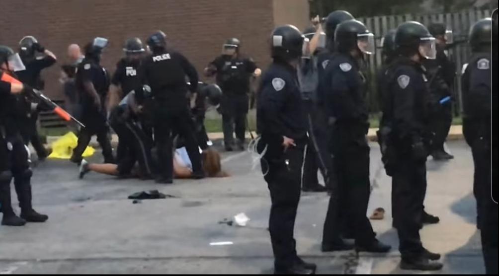 Arrest during Florissant protest