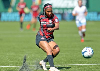 Midge Purce, a striker with the Chicago Thorns