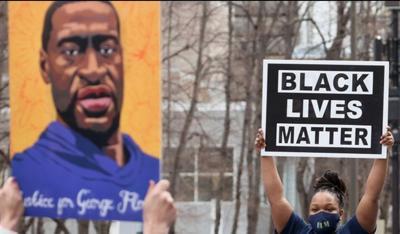 George Floyd and Black Lives Matter sign