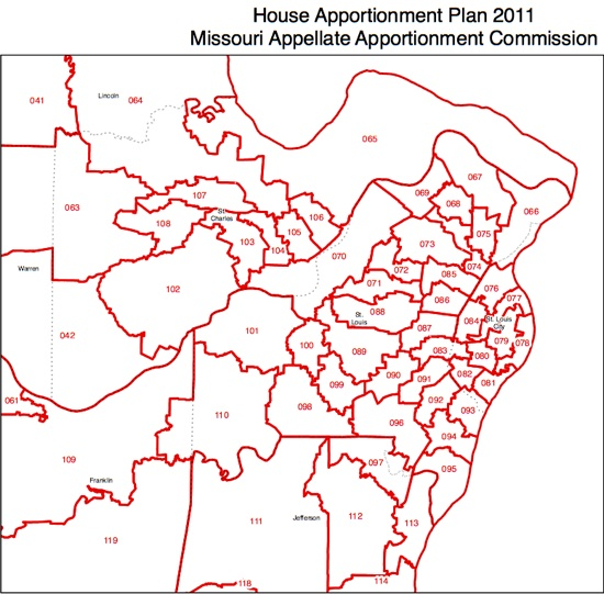 Missouri state House districts