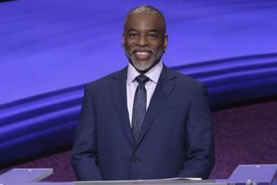 Levar Burton as Jeopardy! host