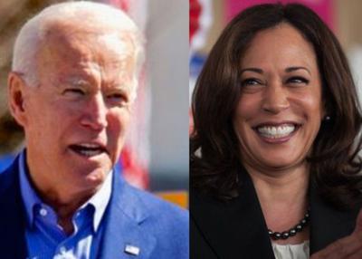 2020 Democratic Ticket Joe Biden and Kamala Harris