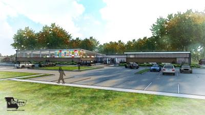 Lewis and Clark Branch Library rendering