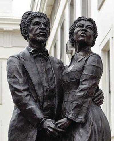 Statue of Dred and Harriet Scott