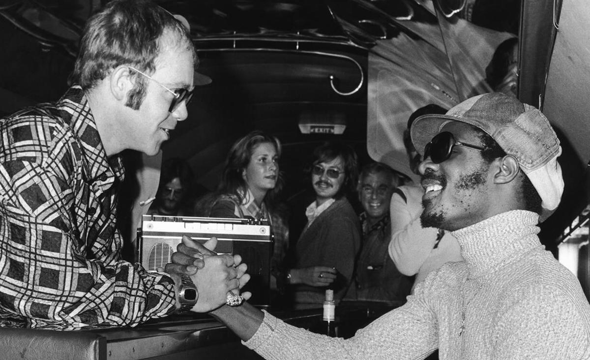 Stevie Wonder and Elton John
