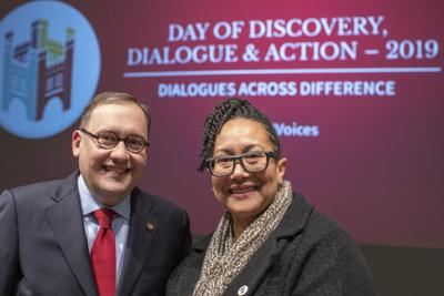 c67ce404e0b4b2 Washington University Chancellor-elect Andrew D. Martin and Vice Provost  Adrienne Davis