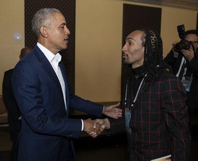 President Barack Obama and Tony Gunn Jr.