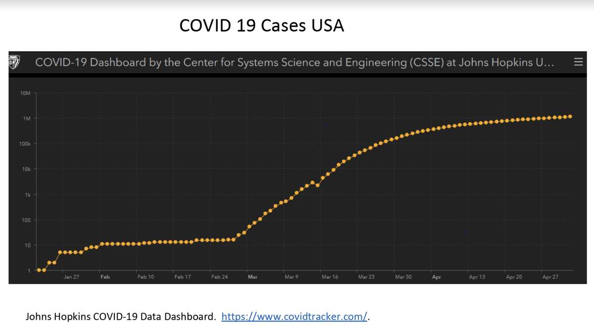 COVID-19 cases in the USA