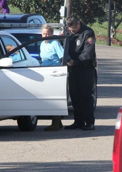 Driver arrested during trick-or-treat