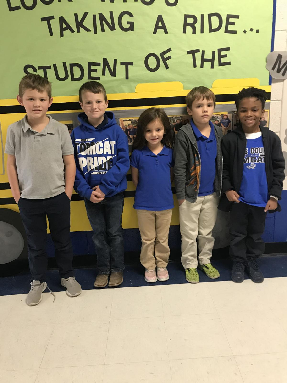 Perkinston Elementary 1st Grade Students of the Month October 2019