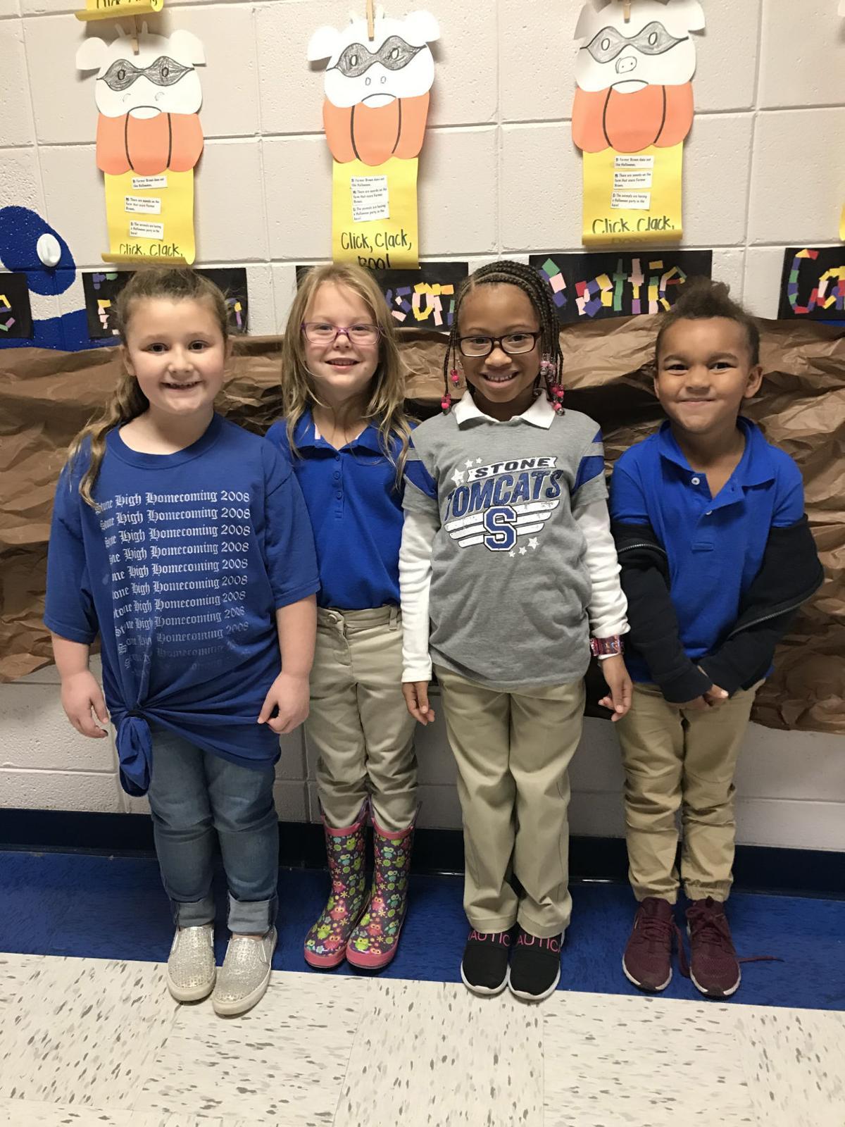 Perkinston Elementary Kindergarten Students of the Month October 2019