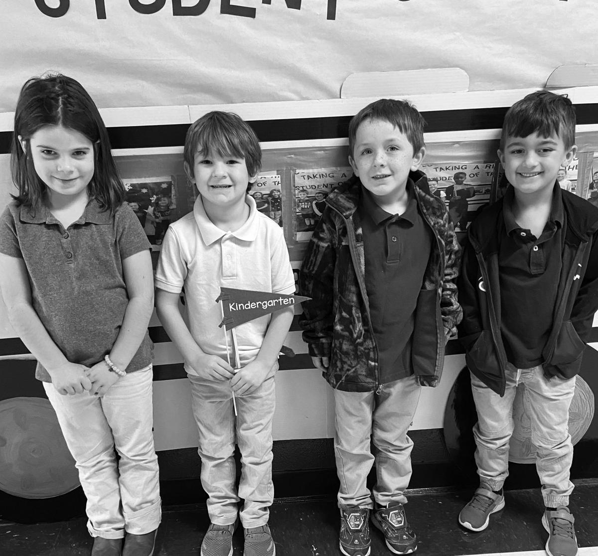 PES Kindergarten Students of the Month for December 2019