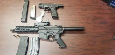 Weapons and drugs seized in Sunday stop