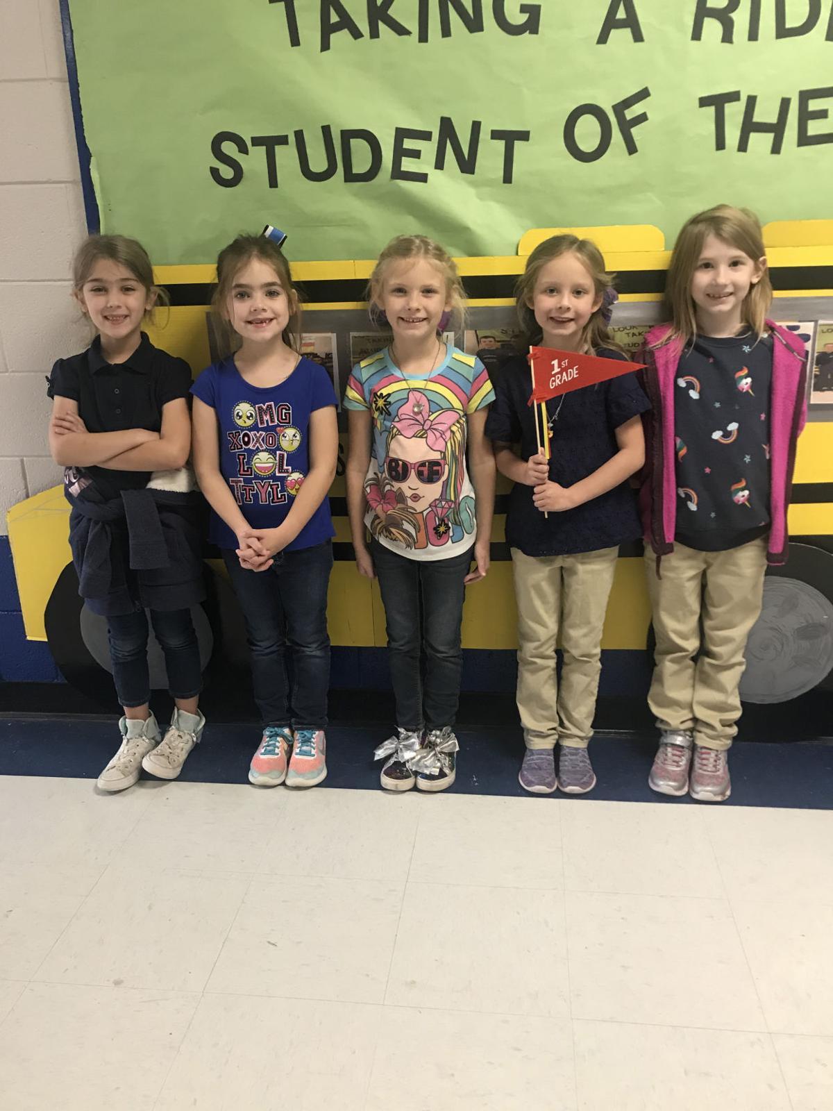 Perkinston Elementary 1st Grade Students of the Month for November 2019