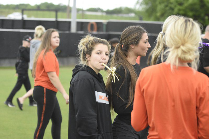 Cowgirl softball holds commencement on home field