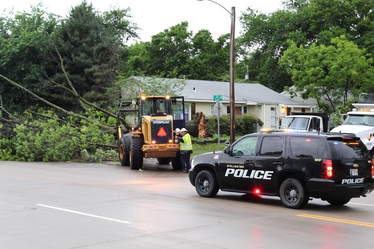 Public Works clearing 12th Ave.