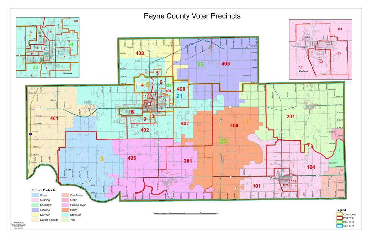 Payne County Precinct Map Stwnewspress Com