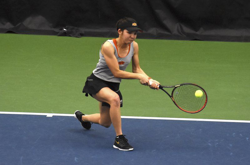 Cowgirl tennis drops doubles point, sweeps singles matches