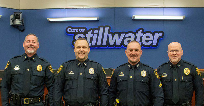 OSU PD and SPD officers receive promotions