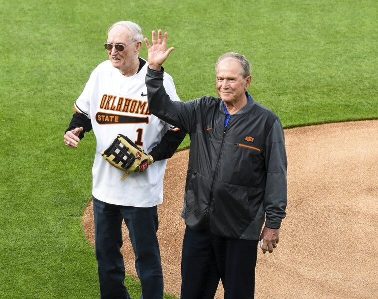 A year later, Former President Bush throws out first pitch at O'Brate