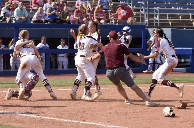 Finished business: Ripley High wins its first-ever fast-pitch state championship
