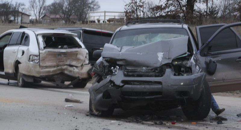Four-vehicle collision resulted in five injuries