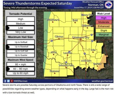 Map Of North Texas And Oklahoma.Nws Says Risk Of Thunderstorms Slight This Weekend Local News