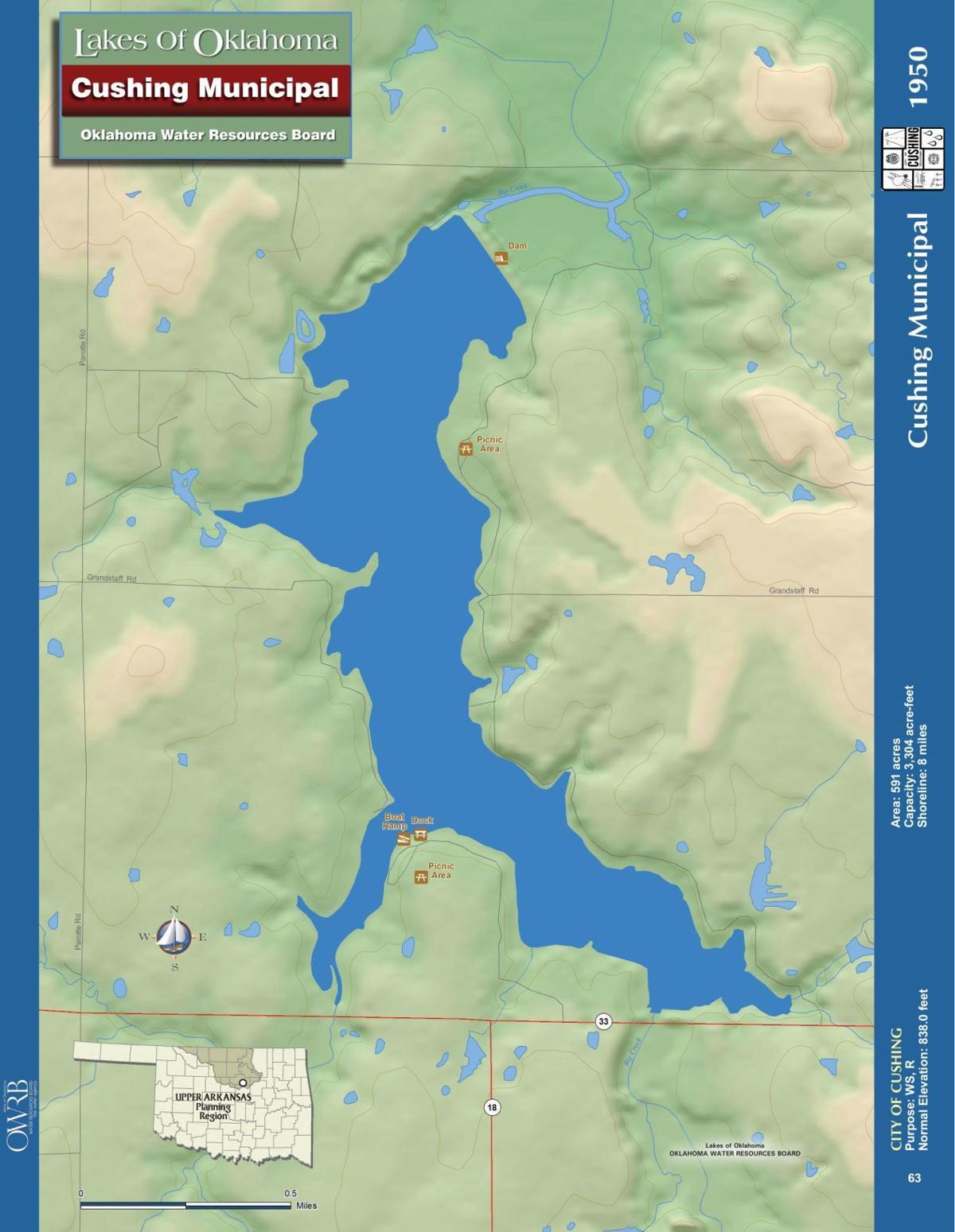 Cushing Lake Map