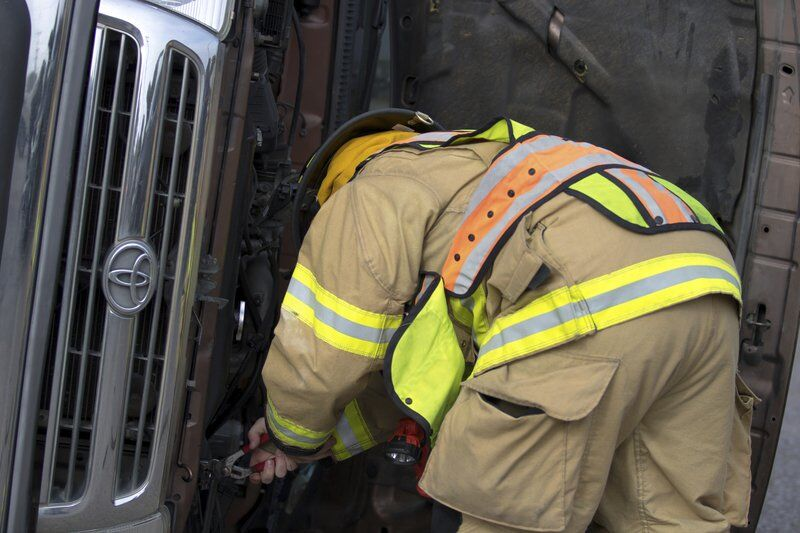 One injured Wednesday in two-vehicle collision
