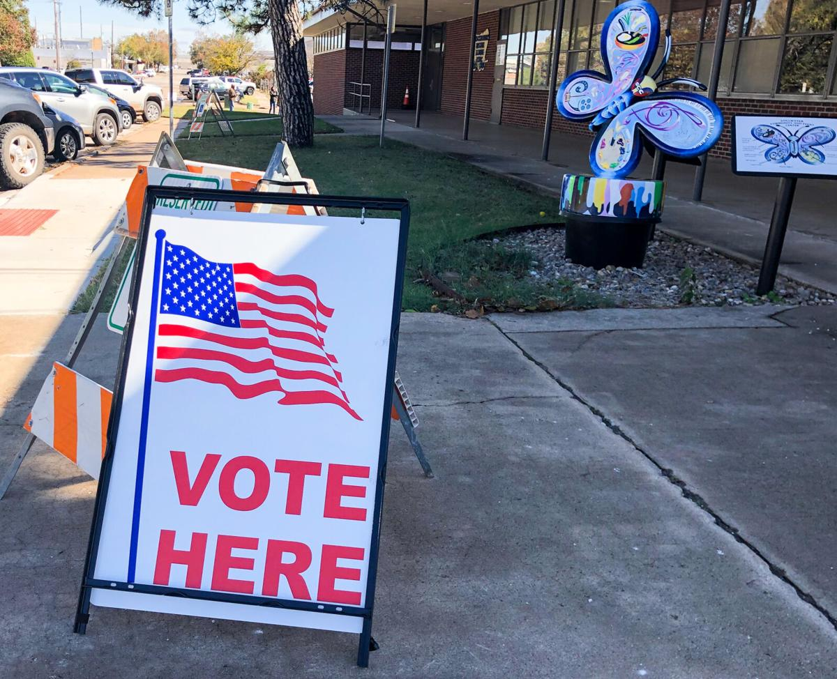 Vote here sign at Comm Center.jpg