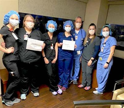 ICU staff says thanks