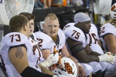 Gundy cautiously optimistic about performance of Cowboy offensive line