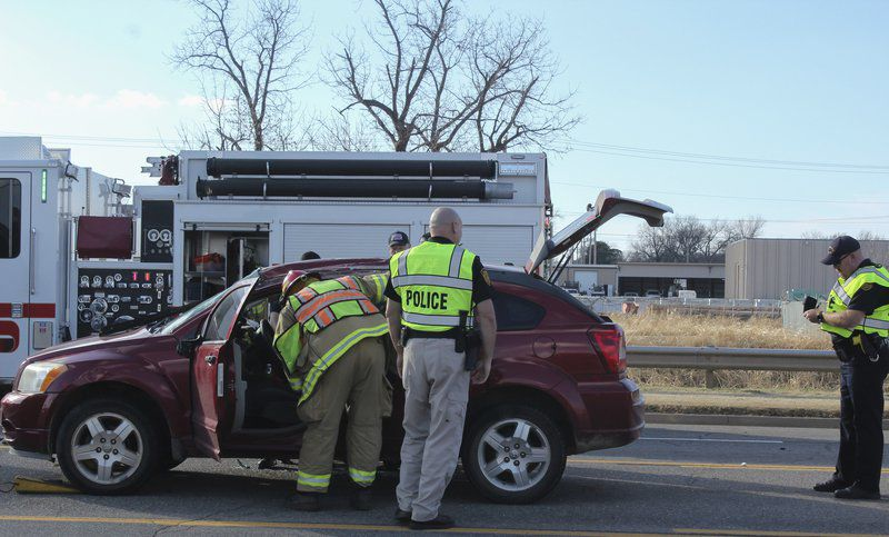 One injured in Perkins Road rollover