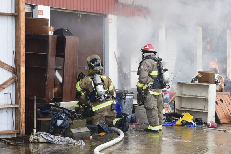 Fire Claims Storage Units Tuesday Morning