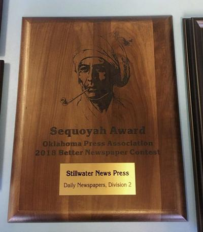 News Press wins Sequoyah Award in statewide newspaper contest
