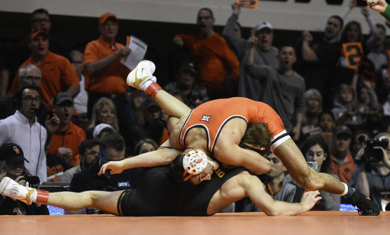 2d1f2d0e2ef34a Oklahoma State s 125-pounder sends statement with pin of defending national  champ