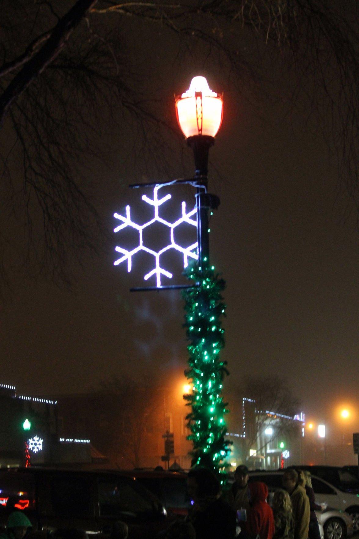 Downtown Christmas lights