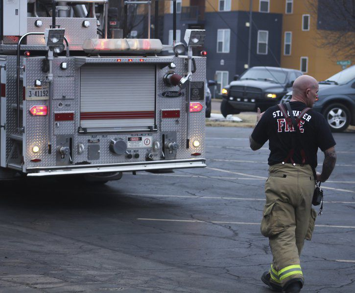 Fire crews put out structure fire at apartment complex