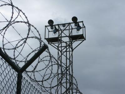 prison fence & tower