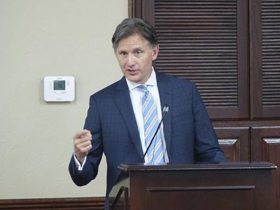 AG Hunter speaks at chamber luncheon