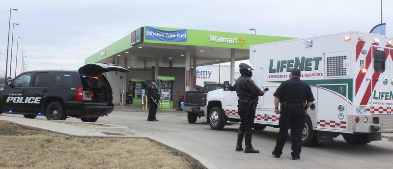 Vehicle strikes Walmart employee
