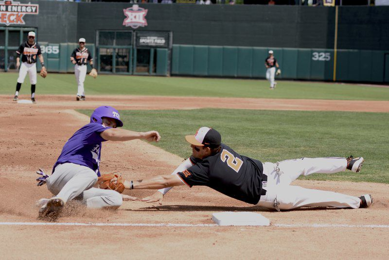 TCU crushes Pokes, force second game
