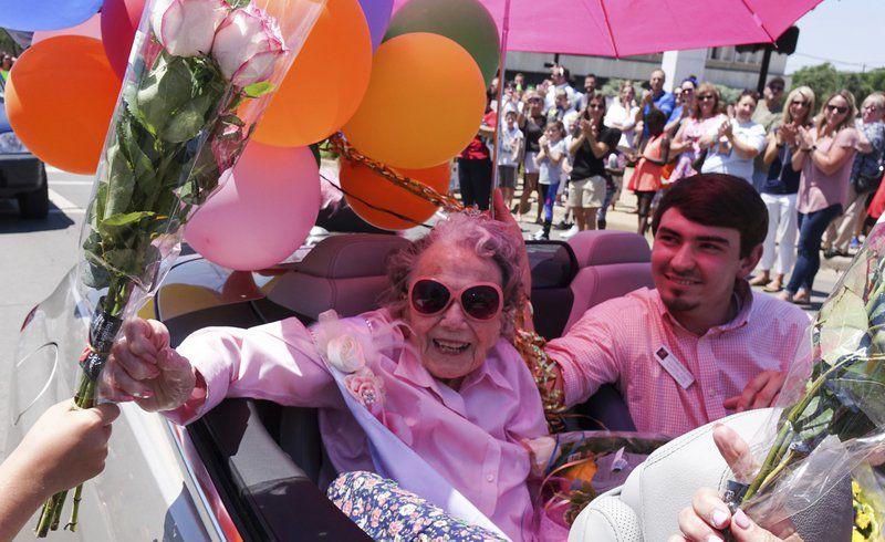 Joyful parade fulfills twowishes