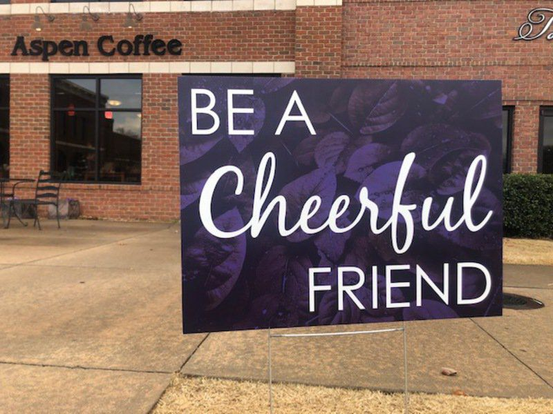 Positive signs: Stillwater group sharing messages of kindness