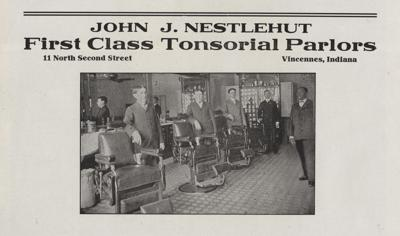 1907 Nestlehut Barbershop Ad