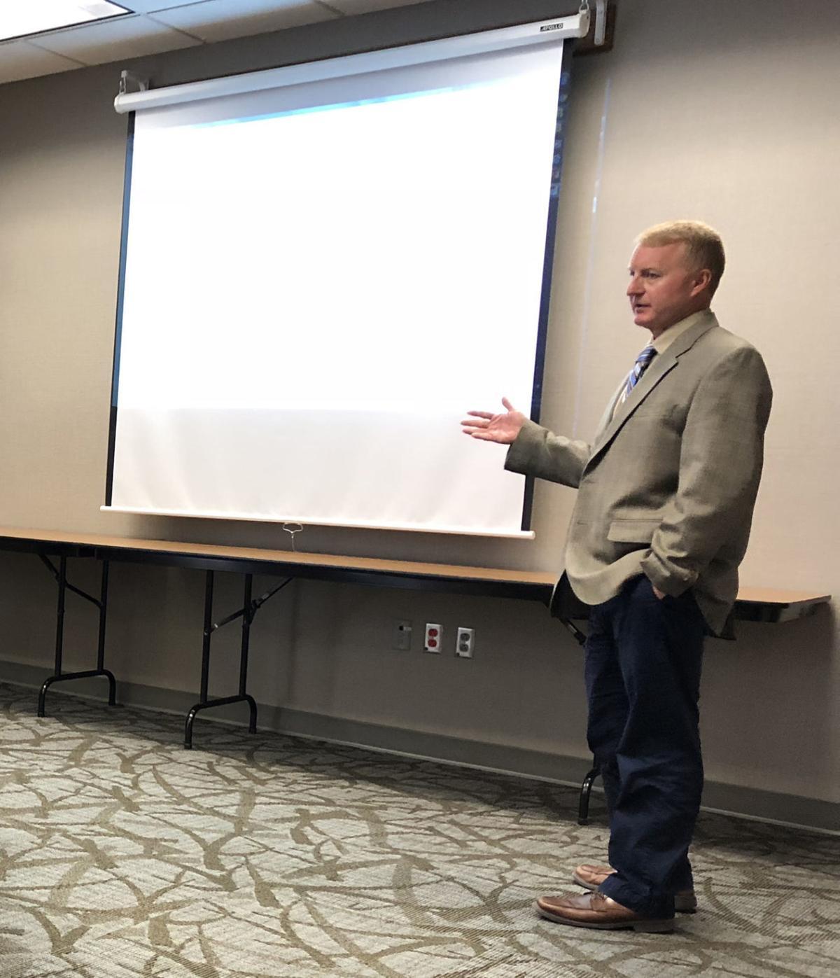 Brett Altman speaks with the CCHS Board