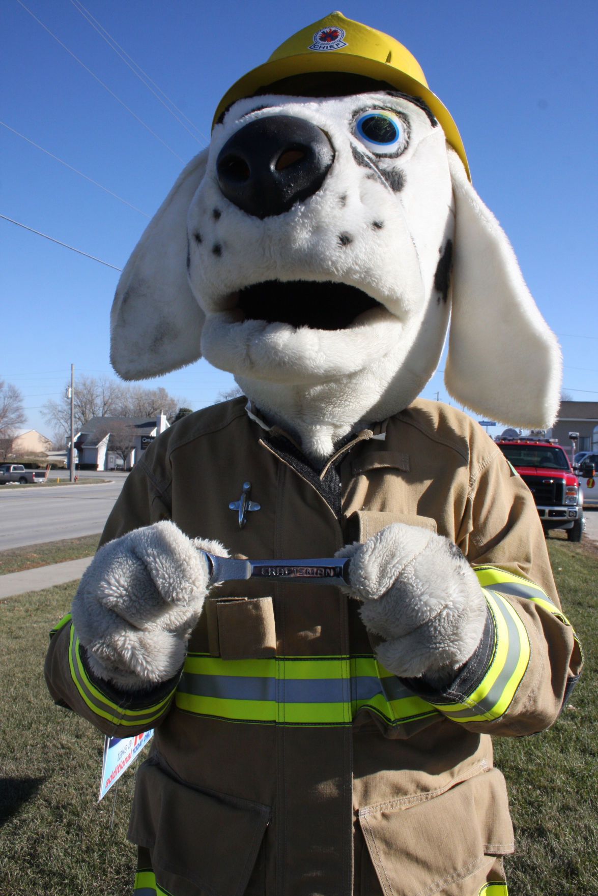 Sparky The Firedog Is Ready For Fire Prevention Week