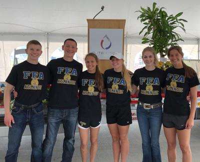 Atlantic FFA Chapter Helps at Elite Octane's Grand Opening