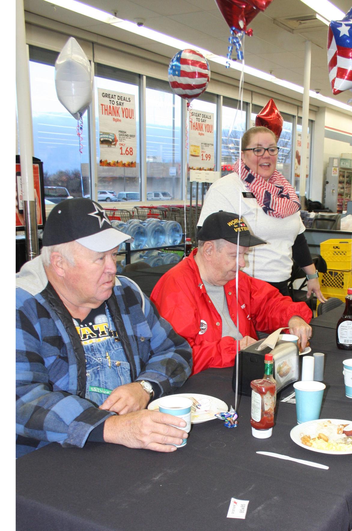 Greeting Veterans